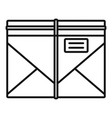 post letter icon outline style vector image vector image