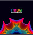 rainbow lines backgroun vector image