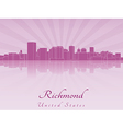 Richmond skyline in purple radiant orchid vector image vector image