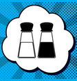 salt and pepper sign black icon in bubble vector image