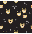 seamless pattern with cute bulldogs heads vector image vector image