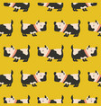 seamless pattern with cute dogs yellow background vector image