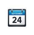 September 24 Calendar icon vector image vector image
