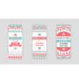 Set of Design Awesome Wedding Invitation Template vector image vector image