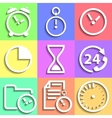 Set of flat Time icons vector image