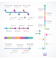 set of time line from color arrows vector image vector image