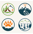 Set of vintage summer camp labels vector image