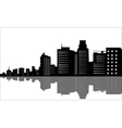 Silhouette of office buildings vector image vector image