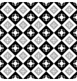 square black and gray seamless pattern vector image vector image