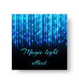 square poster with neon light vector image vector image
