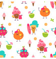 summer cute pattern trendy seamless background vector image