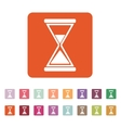 The hourglass icon Clock symbol Flat vector image