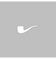 Tobacco pipe computer symbol vector image vector image
