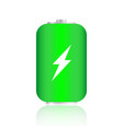 transparent charged batteries element for vector image