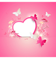 Valentine background with paper heart vector image vector image