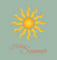 vintage summer background vector image
