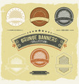 vintage grunge banner and labels collection vector image