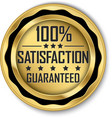 100 satisfaction guaranteed gold label