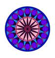 abstract cute mandala vector image vector image