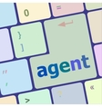 agent button on the computer keyboard vector image vector image