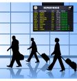 airport set 1 passengers departing vector image vector image