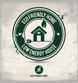 alternative eco home stamp vector image