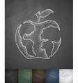 Apple icon Hand drawn vector image vector image