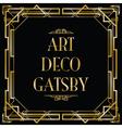 art deco gatsby square vector image