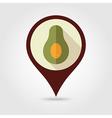 avocado flat pin map icon tropical fruit