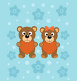 background with funny cartoon bears vector image vector image