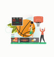 basketball game flat style design vector image