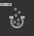 black and white style good luck logo vector image
