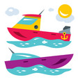boats flat style colorful cartoon vector image vector image