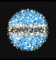 botswana flag sparkling badge vector image