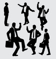 businessman busy and activity silhouette vector image vector image