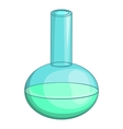 Chemical laboratory flask icon cartoon style vector image vector image