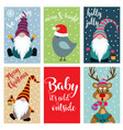 christmas card collection vector image