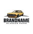 classic car logo template vector image vector image