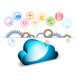 Cloud computing on a white background vector image vector image