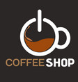coffee shop cup of coffee top view background vect vector image