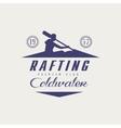 Coldwater Rafting Emblem Design vector image vector image