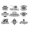 College rugby and american football team college vector image