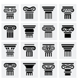 Column icon set vector image vector image