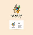 company logo on the delivery and transportation vector image vector image