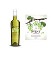 Conceptual transparent label for white wine vector image vector image