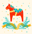 Dala horse vector image vector image