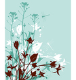 Decorative nature green background vector image vector image