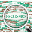 DISCUSSION vector image