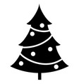 element silhouette single christmas tree vector image
