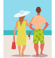 Family vacation on the beach vector image